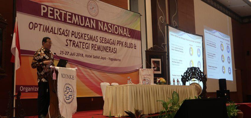Pertemuan Nasional Puskesmas sebagai PPK BLUD & Strategi Remunerasi